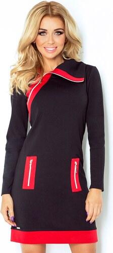 Numoco Sportovní dámské šaty Justýna 129-4 červená černá - Glami.cz 5b28afac74