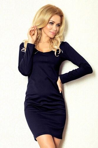 d30d235fd02 Numoco dámské šaty s dlouhým rukávem tmavě modré - Glami.cz