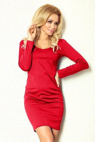Numoco Klasické červené púzdrové úpletové šaty 92-5 - Glami.sk 3e2b6cd57ca