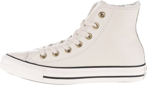 Krémové dámské kožené kotníkové tenisky Converse Chuck Taylor All Star a88a0b7c56