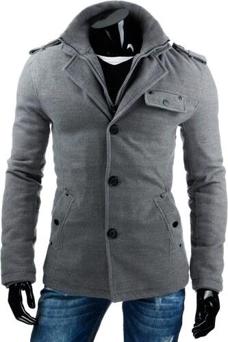 Sivý elegantný pánsky kabát - Glami.sk fd409dd7d24