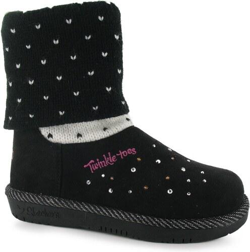 Zimní boty Skechers Twinkle Toes dět. černá - Glami.cz 768f474e0f