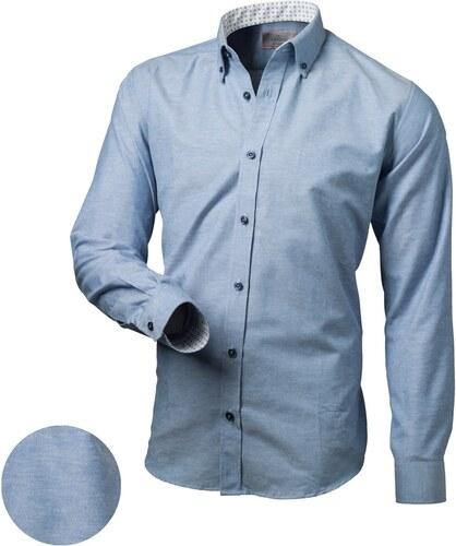 276634960218 Victorio Trendy modrá slim fit pánska košeľa - Glami.sk