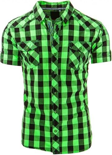 d36cbf9309d1 Zelená košeľa s krátkym rukávom pre pánov - Glami.sk