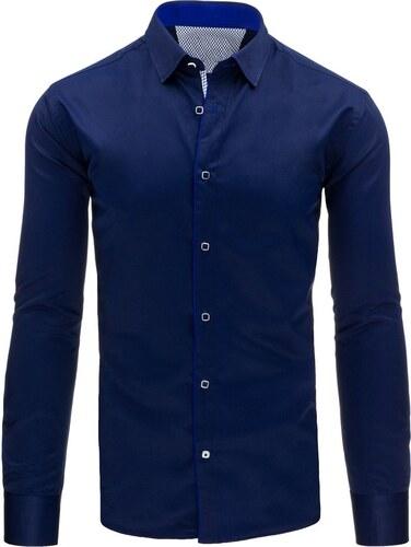 96ae4b2fb25b Trendy slim fit granátová pánska košeľa - Glami.sk