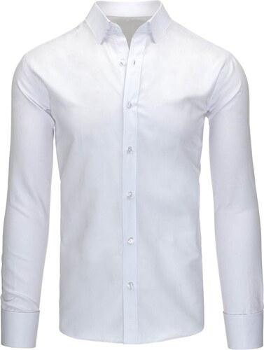 ba873bd079c4 Klasická biela pánska košeľa slim fit strihu - Glami.sk