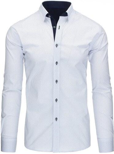 Trendy elegantní bílá pánská košile - Glami.cz 6ec55d2a6f