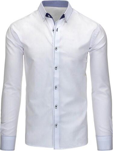 560dcaec2af7 Moderná elegantná biela pánska košeľa - Glami.sk