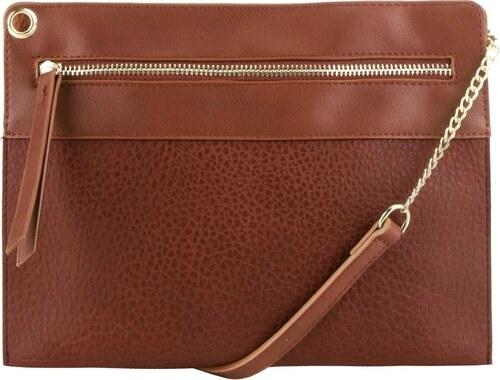 Hnedá listová kabelka Pieces Andore - Glami.sk 54a2e9418bb