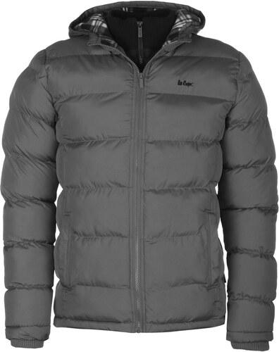 73cbefc759e6 Zimní bunda pánská Lee Cooper Bubble Charcoal - Glami.sk