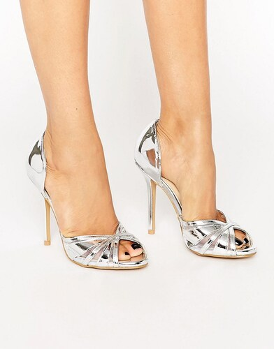 5bf435ef3a10a True Decadence - Sandales peep toes à talons - Argent métallisé - Argenté