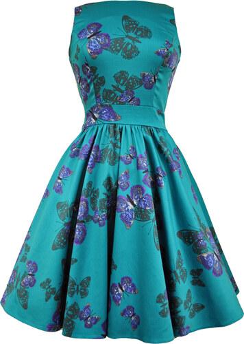 251f15938e9 Dámské šaty Lady Vintage Tyrkysový motýlek - Glami.cz