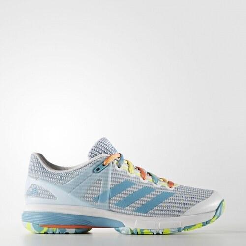 135f7222f Sálové topánky adidas Performance Court Stabil 13 W (Biela / Tmavo modrá /  Žltá)