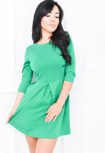 5bd808029570 Dámske zelené šaty na zips - 84289 odtiene farieb  zelená - Glami.sk