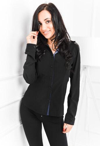 e374b88174df Dámska čierna košeľa - K8007 odtiene farieb  čierna - Glami.sk