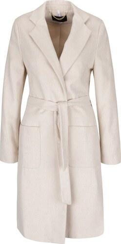 Krémový kabát s páskem a kapsami Dorothy Perkins - Glami.cz a45b37f8747