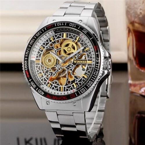Pánské automatické hodinky Winner Gold rush - Glami.cz fcb4f5dad25