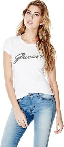 GUESS tričko Short-Sleeve Script Logo Tee biele 49434db0a30