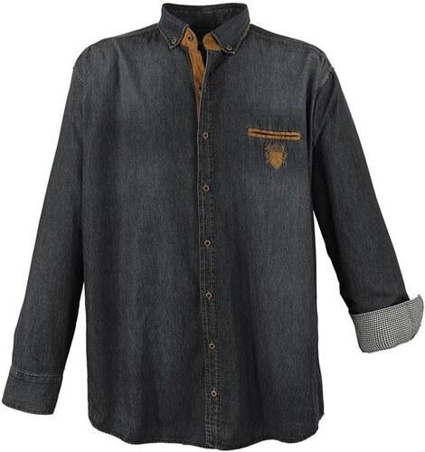LAVECCHIA košile pánská 11282 nadměrná velikost jeans džínová - Glami.cz 71a955aada