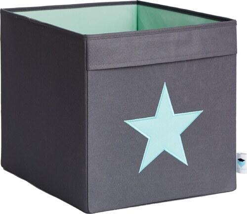 5b6bdd327 STORE !T Úložný box s mätovou hviezdou - šedý, 38x32x32 cm - Glami.sk