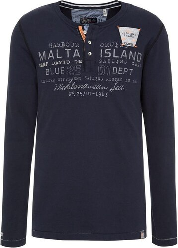 1801e2165cb0 Pánske tmavo modré tričko CAMP DAVID Yachting - vel . S - Glami.sk