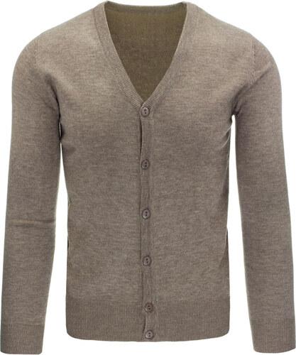 Pánský béžový svetr na knoflíky (wx0849) - Glami.cz d867b30a10