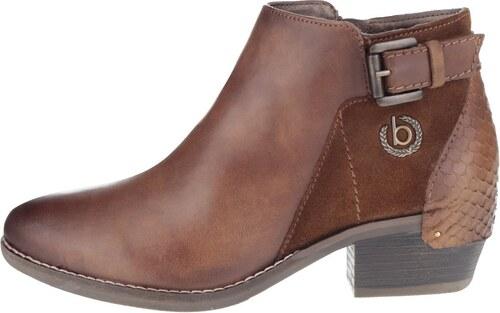 59becd6005 Hnedé dámske členkové topánky s prackou bugatti Lusie - Glami.sk