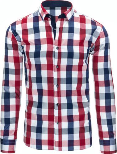 d22b5d0b441 Stylová pánská kostkovaná košile Viadi Polo - červeno-modro-bílá ...