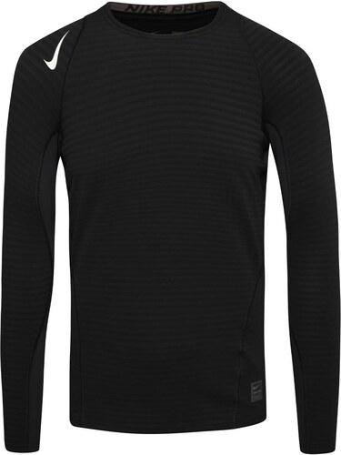 f278337b5023 Čierne pánske funkčné tričko s dlhým rukávom Nike Pro - Glami.sk