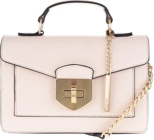 Krémová menší crossbody kabelka s detaily ve zlaté barvě ALDO Astirwen 04b083f7bb0