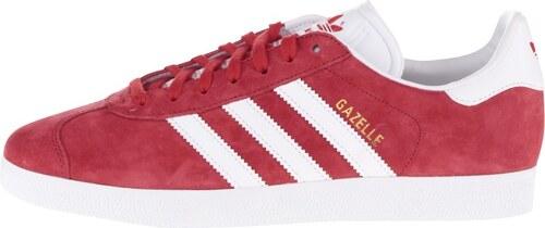 6e69091b3a0 Červené pánske semišové tenisky adidas Originals Gazelle - Glami.sk