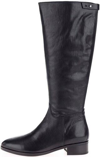 2e198035db Čierne dámske kožené vysoké čižmy Elaine Vagabond - Glami.sk