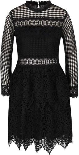 84b7e44fc78 Černé krajkové šaty s dlouhým rukávem Miss Selfridge - Glami.cz