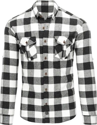 2084171c9e Kényelmes fekete- fehér kockás ing - Glami.hu
