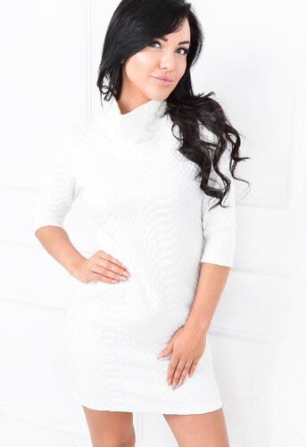 Prešívané biele šaty - 84423 odtiene farieb  biela - Glami.sk bcd7ed9ba3e