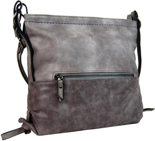 Tapple Dámská crossbody kabelka z broušené kůže 165B-6 tmavá šedá ... 7fb18914ba1