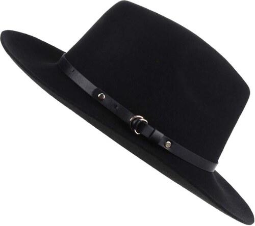 b8e80149388 Černý vlněný klobouk Pieces Daniella - Glami.cz