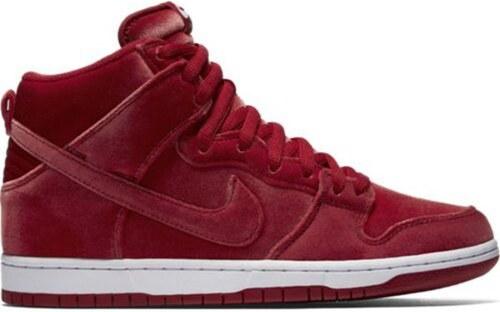 Pánské boty Nike SB dunk high premium GYM red gym red-white 45 ... 47da105463