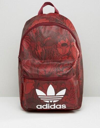Fleurs Adidas Logo Trèfle Avec Originals À Sac Rouge Dos w6p6xR