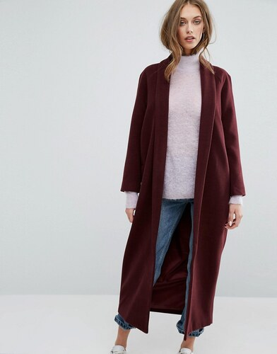 Manteau marron long