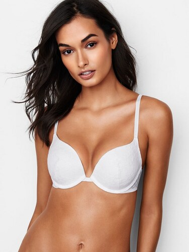 b0471bda959ea Victoria s Secret Bílá sexy krajková push-up podprsenka Sexy Tee Push-Up Bra