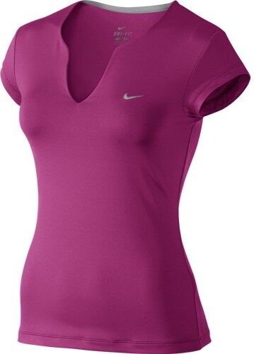 d6389a714cde Dámské tričko Nike PURE SS TOP FIREBERRY MATTE SILVER - Glami.cz