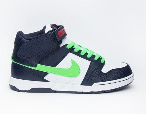 Dětské boty Nike MOGAN MID 2 JR B OBSIDIAN POISON GREEN-WHITE - Glami.cz d5518da095