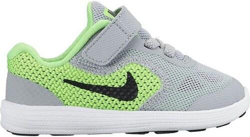 Dětské boty Nike REVOLUTION 3 (TDV) 26 VOLTAGE GREEN BLCK-WLF GRY ... b6850c80ad9