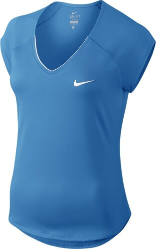 20c542ee282d Dámské tričko Nike PURE TOP LT PHOTO BLUE WHITE - Glami.cz