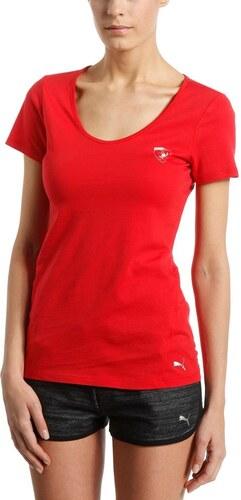 Dámské tričko Puma Ferrari Ferrari Shield Tee rosso corsa - Glami.sk 3179f0df2ec