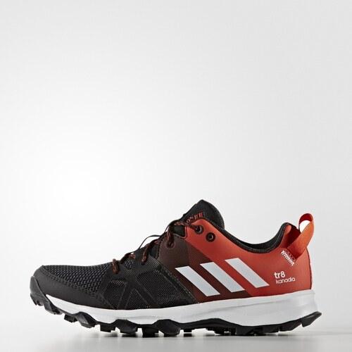 Dětské běžecké boty adidas Performance kanadia 8 k CBLACK FTWWHT CRACHI 1ee5dc2149
