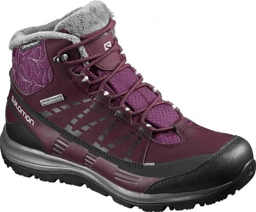 Dámská treková obuv Salomon KA NA CS WP 2 Bordeaux Purple Bordeaux Purple  Black Alu 6527f1b9674