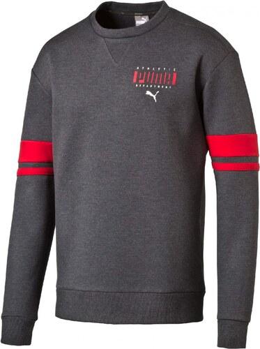 Pánská mikina Puma Athletic Crew Dark Gray Heathe - Glami.cz 166a96a29ca