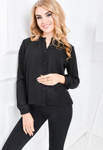 a5002216d426 Dámska čierna košeľa - 84356 odtiene farieb  čierna - Glami.sk